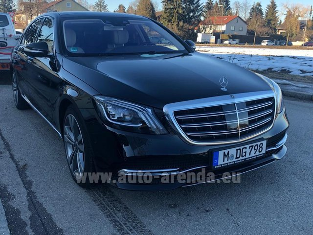 Hire and delivery to Prague Airport the car Mercedes-Benz S-Class S400 Long Diesel 4Matic AMG equipment