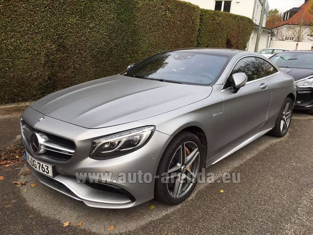 Rental Mercedes-Benz S-Class S63 AMG Coupe in Pilsen