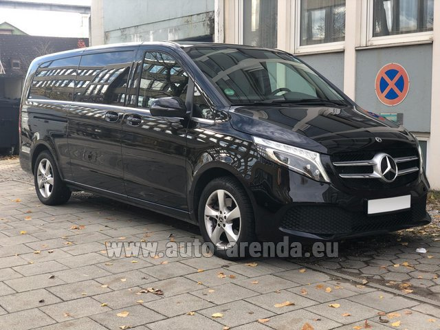 Hire and delivery to Prague Airport the car Mercedes-Benz V-Class V 250 Diesel Long (8 seater)