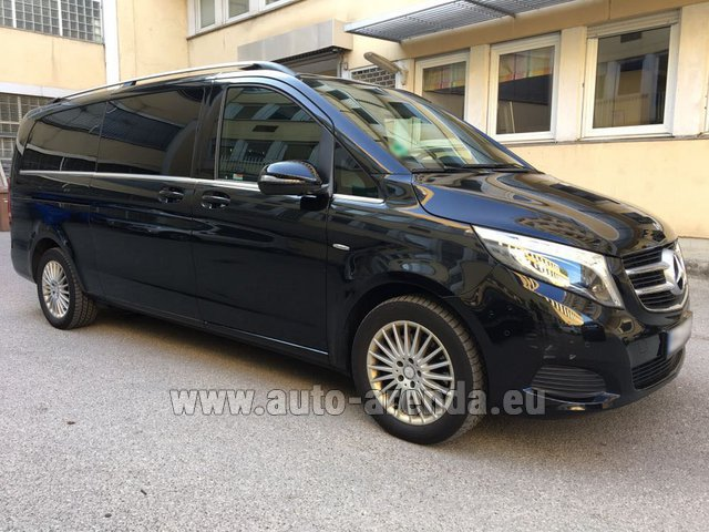 Hire and delivery to Prague Airport the car Mercedes-Benz V-Class V 250 Diesel Long (8 seats)