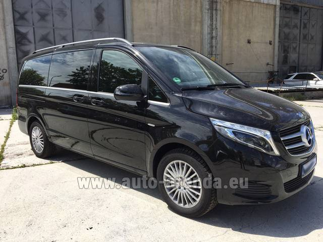 Hire and delivery to Prague Airport the car Mercedes-Benz V-Class (Viano) V 250 Long 8 seats
