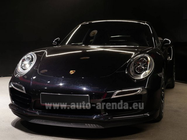 Rental Porsche 911 991 Turbo S Ceramic LED Sport Chrono Package in Brno