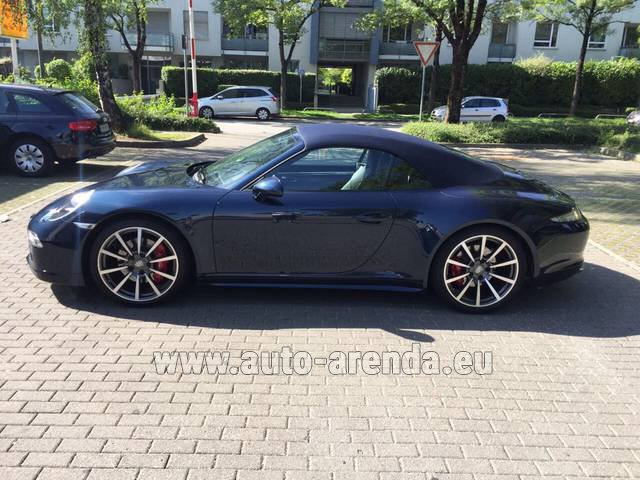 Rental Porsche 911 Carrera 4S Cabriolet in The Czech Republic