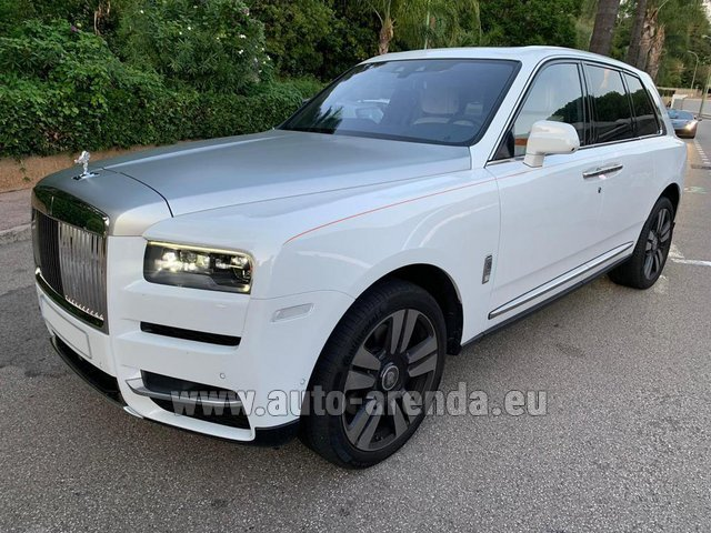 Rental Rolls-Royce Cullinan White in Pilsen