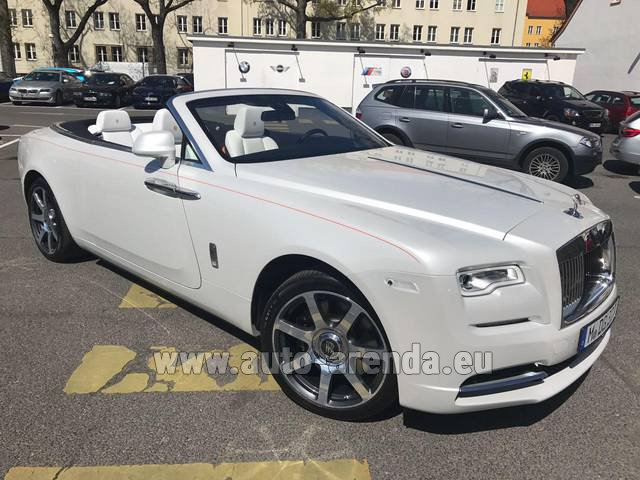 Rental Rolls-Royce Dawn (White) in Prague