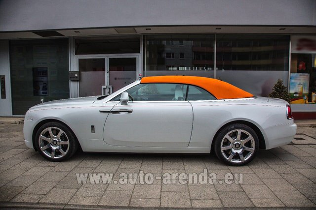 Hire and delivery to Prague Airport the car Rolls-Royce Dawn White