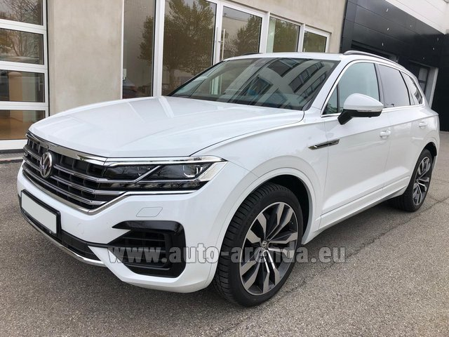 Hire and delivery to Prague Airport the car Volkswagen Touareg 3.0 TDI R-Line